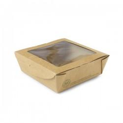 650 ml-es, ablakos, salátás doboz