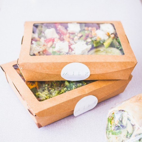 1,1 literes, ablakos, salátás doboz