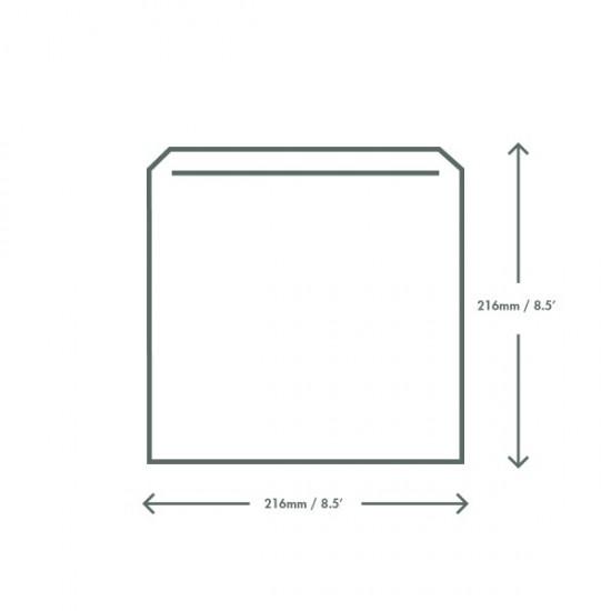 Fehér zacskó, 21,5x21,5 cm