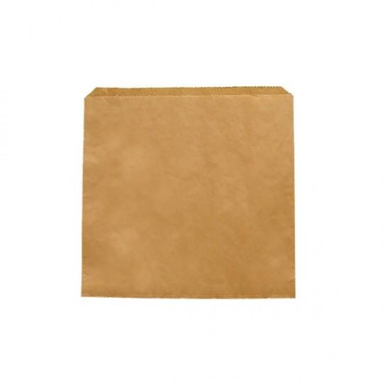 Barna zacskó, 17x17 cm