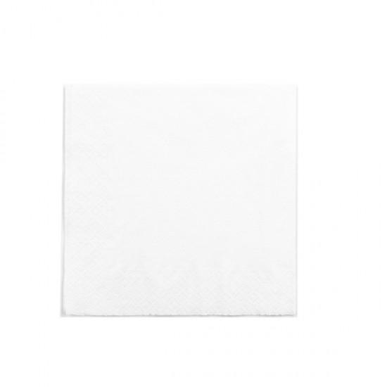 Kétrétegű fehér szalvéta, 33 cm-es