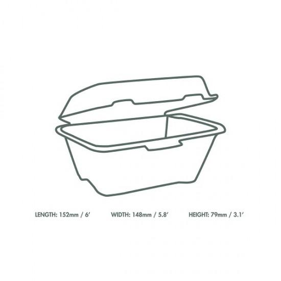 15 cm-es cukornád hamburgeres doboz