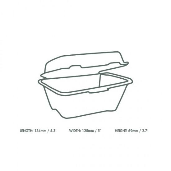 13 cm-es cukornád hamburgeres doboz