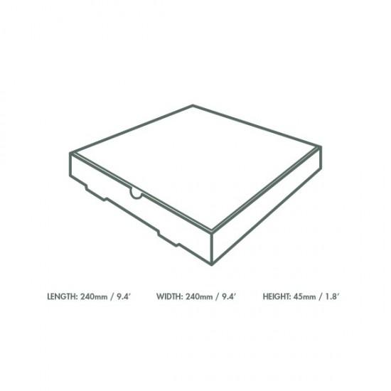 Kicsi pizzás doboz, 22,8 cm