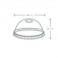 PLA dóm tető, szívószál nyílással, 76 mm