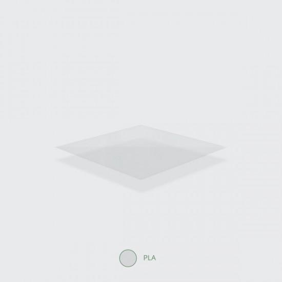 PLA lapos tető, szívószál nyílás nélkül