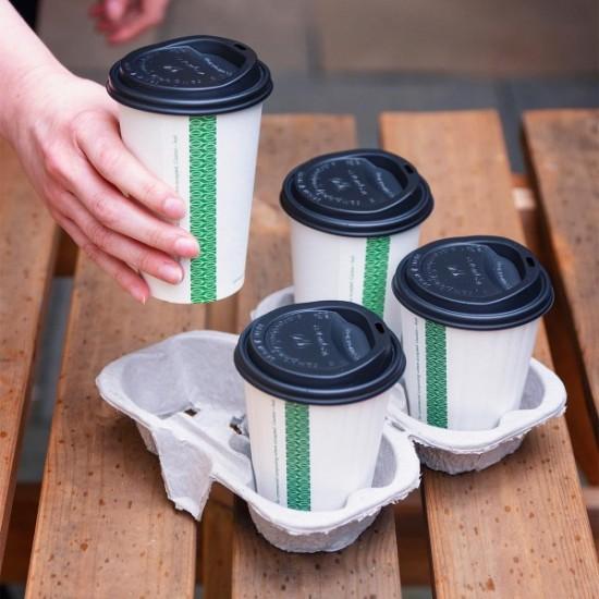 Négyrészes, osztható, kávés pohártartó