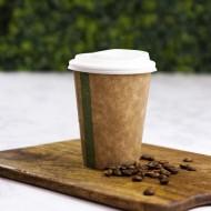 3,6 dl-es barna kávés papírpohár