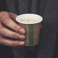 1,1 dl-es barna presszó kávés pohár