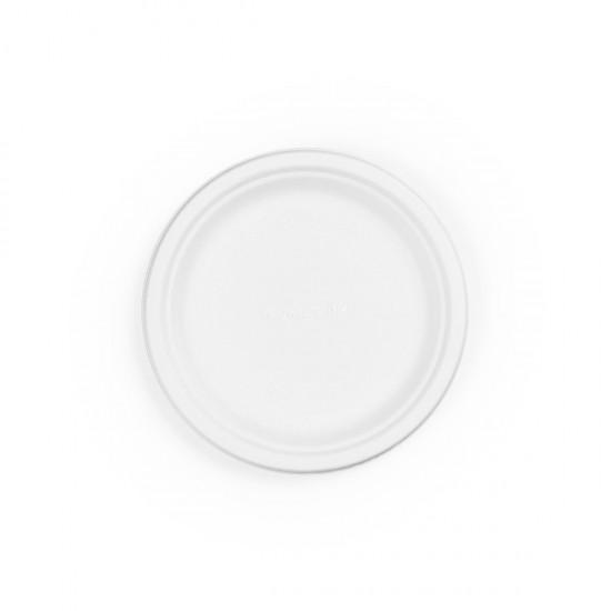 18 cm-es, kerek cukornád tányér