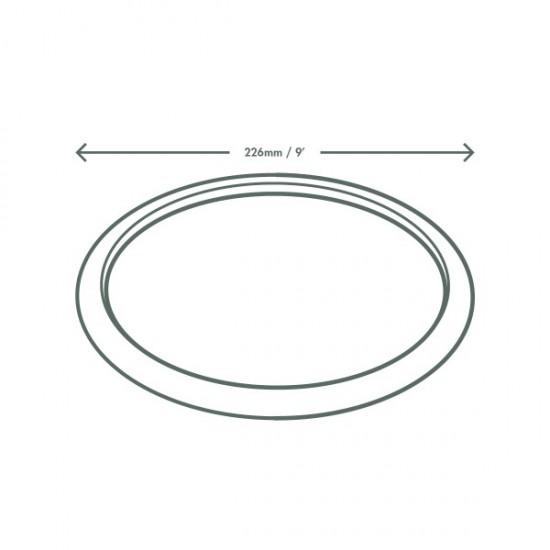 23 cm-es, kerek cukornád tányér