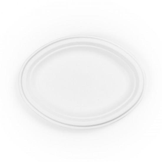 25 cm-es, ovális cukornád tányér