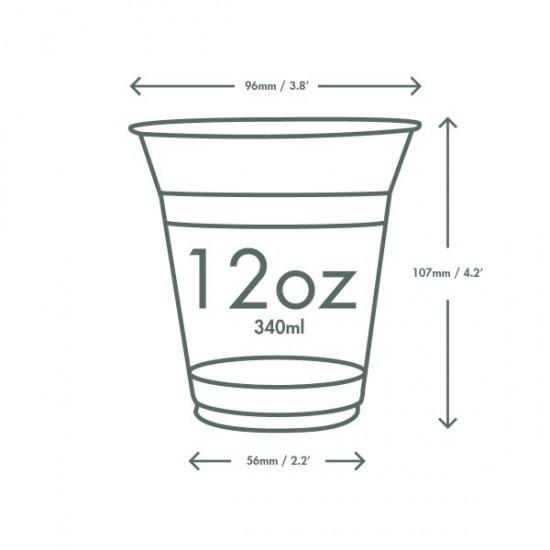3,6 dl-es feliratos PLA pohár