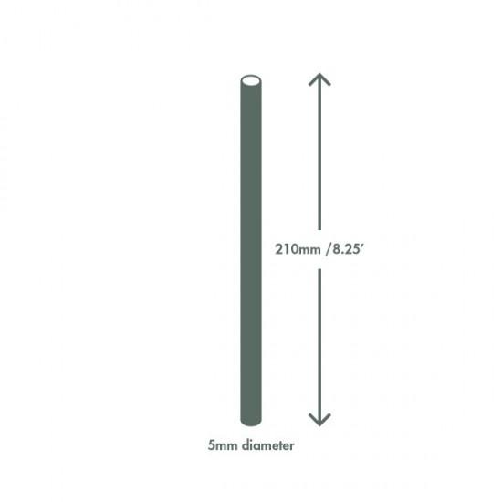 5 mm-es, fekete PLA szívószál