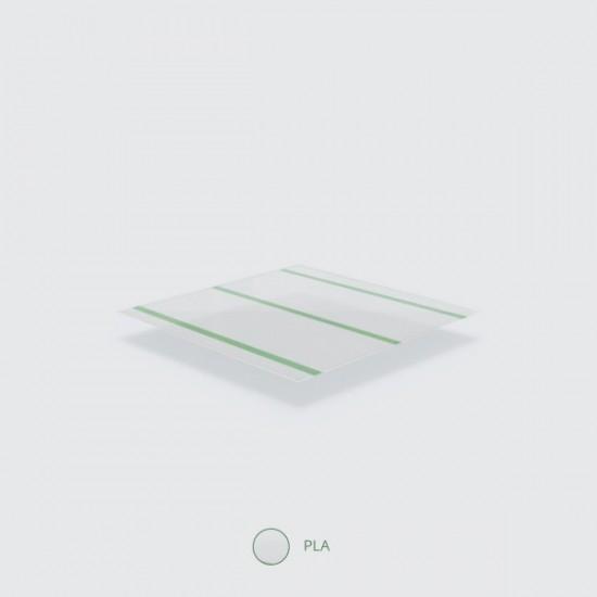 7 mm-es, zöld csíkos PLA szívószál