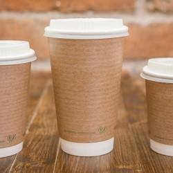 4,7 dl-es barna, dupla falú kávés pohár