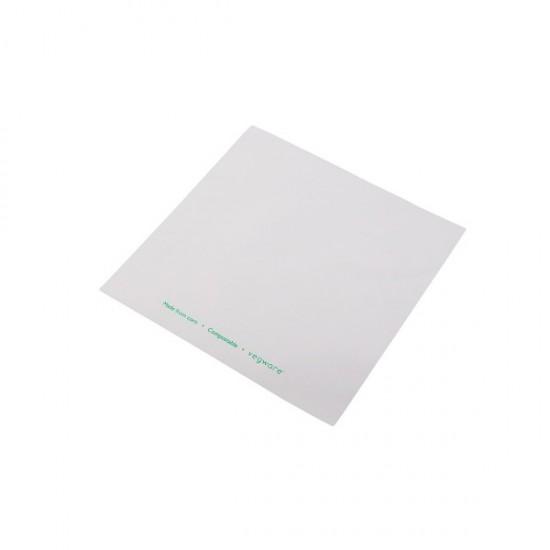 Átlátszó/fehér zacskó, 19x19 cm