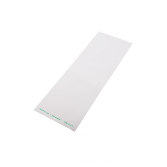 Átlátszó/fehér zacskó, 12x35 cm