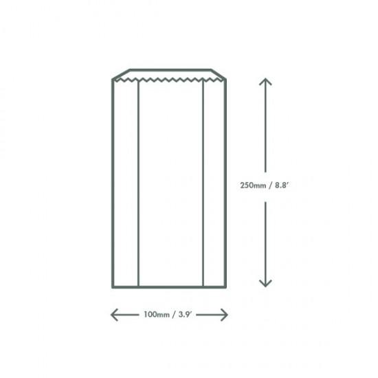 Hőálló, ablakos zacskó, 10x15x25,4 cm