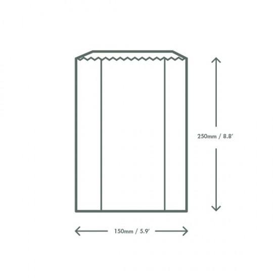 Hőálló, ablakos zacskó, 15x21,5x25,4 cm