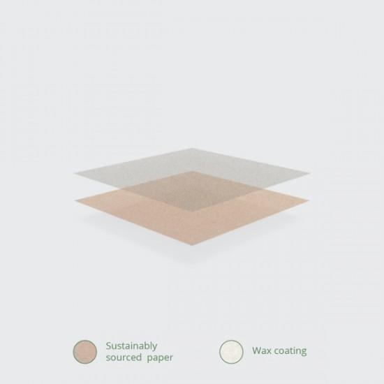 Viaszos kraft deli papír, 30x30 cm