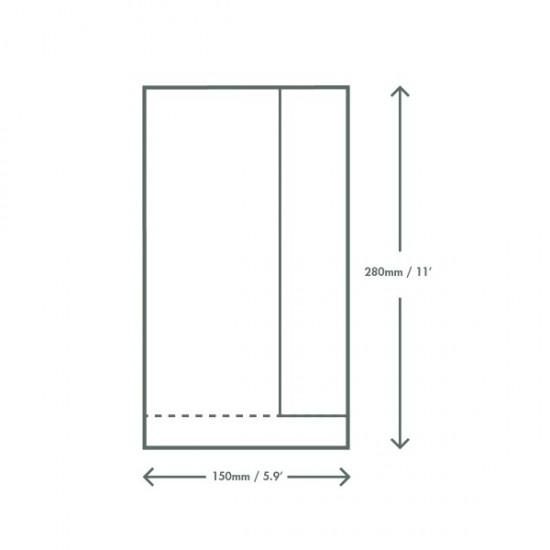 Baguette papírzacskó, 15x6x28 cm