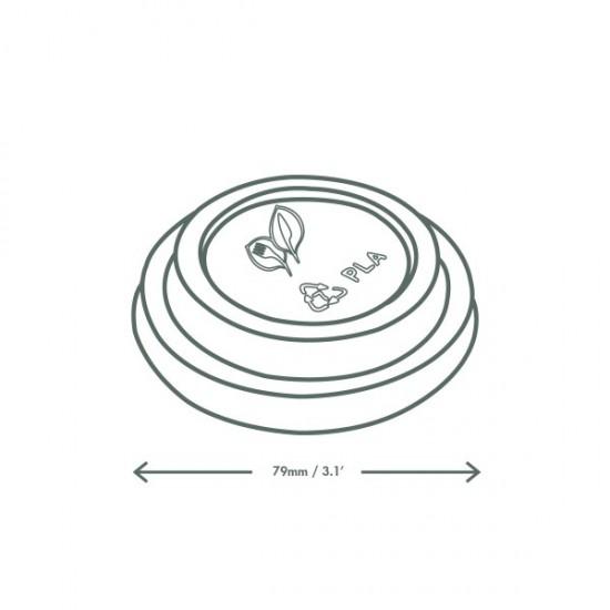 CPLA anyagú fehér cappuccinos pohártető