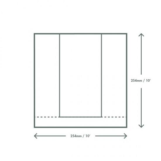 Ablakos zacskó, 25,5x25,5 cm