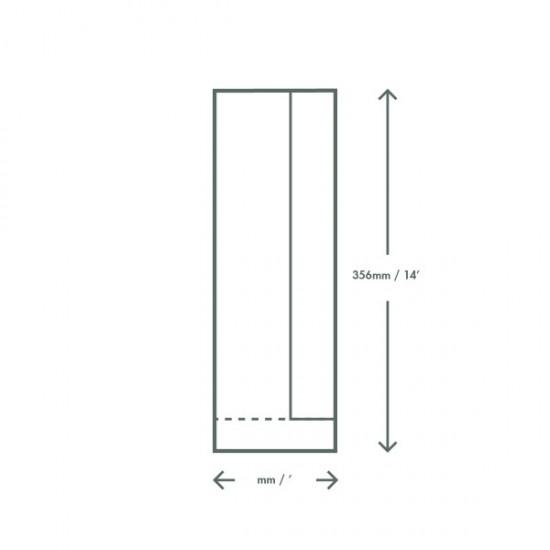 Ablakos baguette zacskó, 10x15x35,5cm