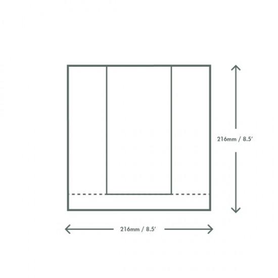 Ablakos zacskó, 21,6x21,6 cm