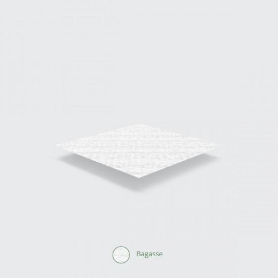 15 cm-es, négyzet alakú cukornád tányér
