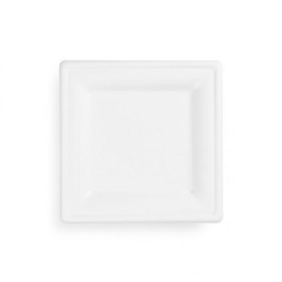 20 cm-es négyzet alakú cukornád tányér
