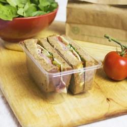 Kétrekeszes PLA szendvicsdoboz