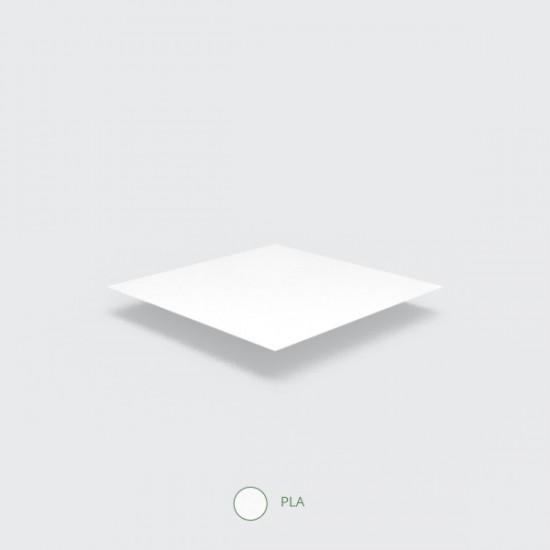 Fehér, PLA anyagú fagyis kanál