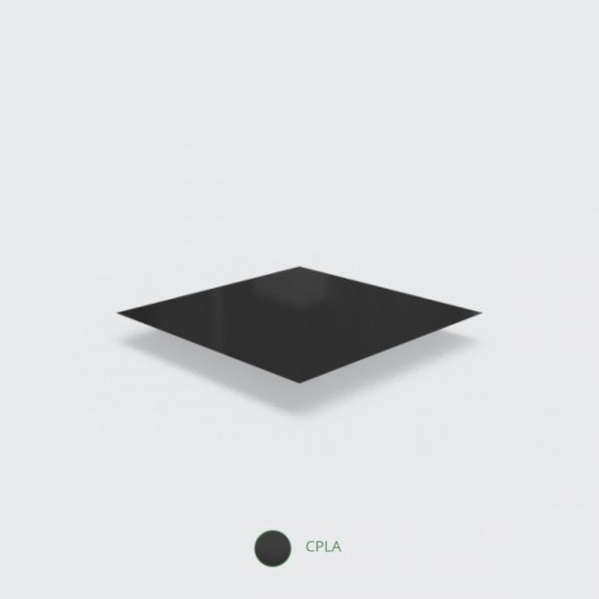 Fekete, CPLA anyagú villa