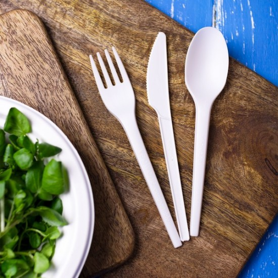 Fehér, CPLA anyagú kés