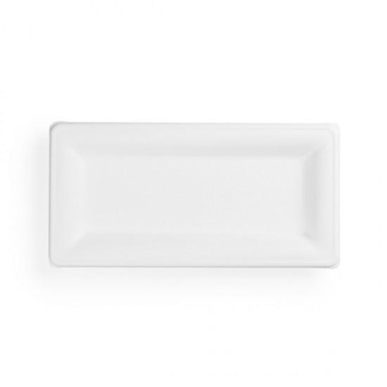 25x12 cm-es téglalap alakú, cukornád tányér