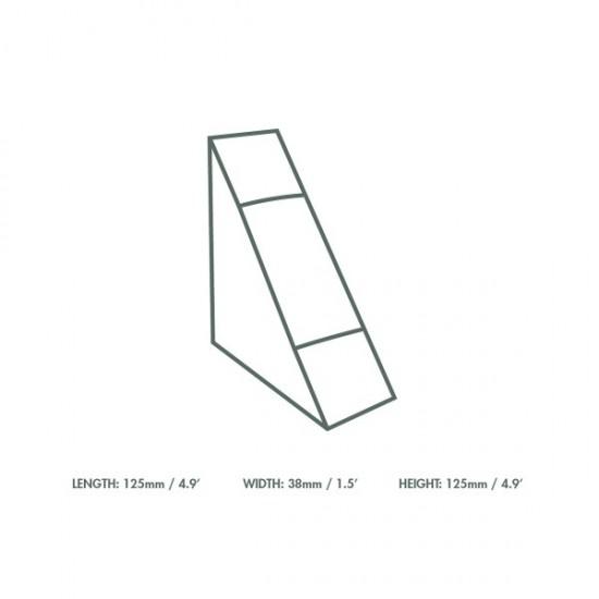 38 mm-es, háromszög alakú szendvics doboz