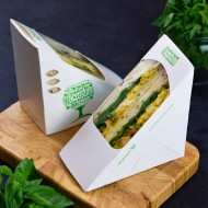 65 mm-es, háromszög alakú szendvics doboz-Green Tree