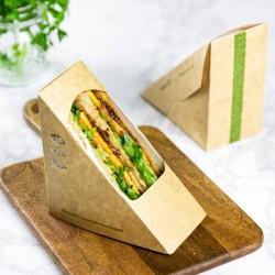 65 mm-es, háromszög alakú szendvics doboz