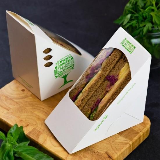 75 mm-es, háromszög alakú szendvics doboz-Green Tree