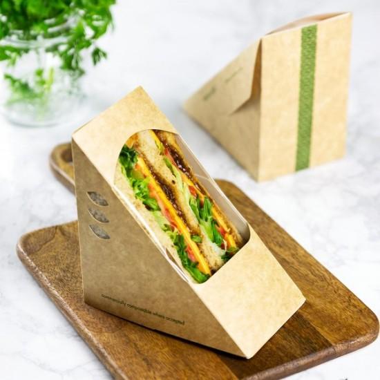75 mm-es, háromszög alakú szendvics doboz