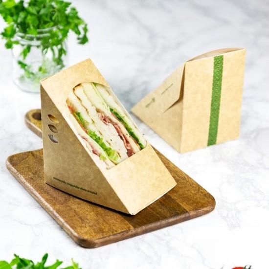 85 mm-es, háromszög alakú szendvics doboz