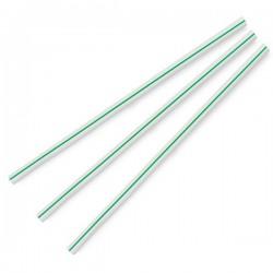 7 mm-es, fehér/zöld csíkos szívószál