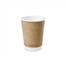 3,6 dl-es barna, dupla falú kávés pohár