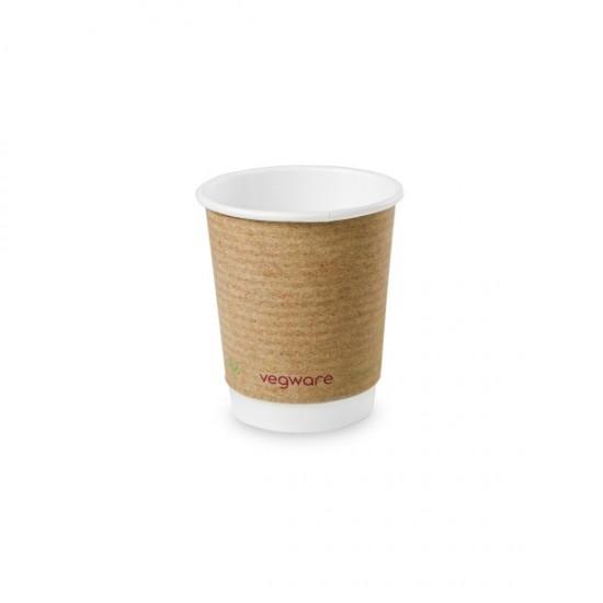 2,3 dl-es barna, dupla falú kávés pohár